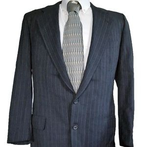 Vintage Hickey Freeman Gray Wool Pinstripe Blazer